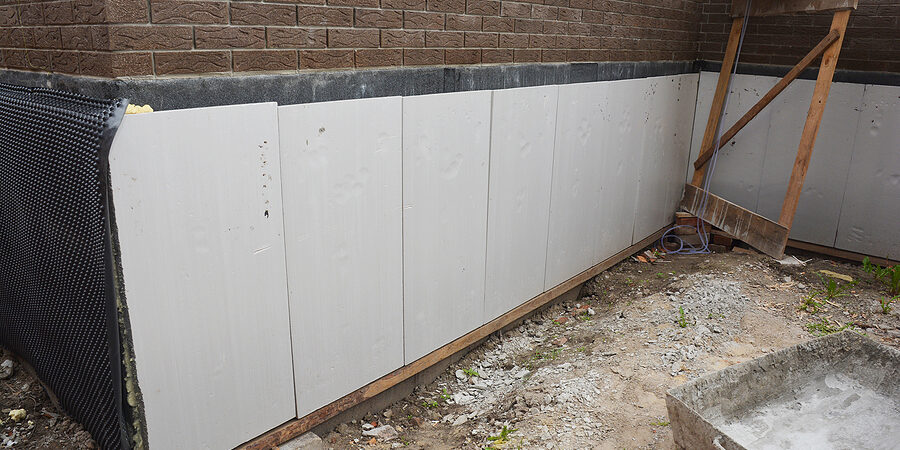 foundation and basement thermal polystyrene insulation